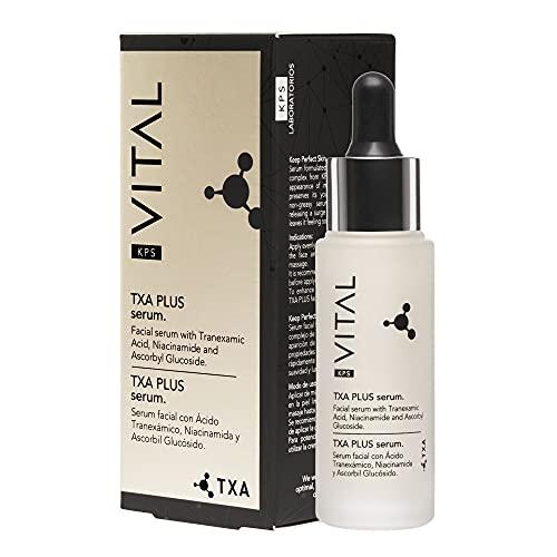 KPS VITAL 【PREMIUM】 TXA PLUS Serum Facial Vitamina C y Ácido Hialurónico Puro Ácido Glicolico Cosmetica Mujer Cremas Faciales Mujer Antiarrugas