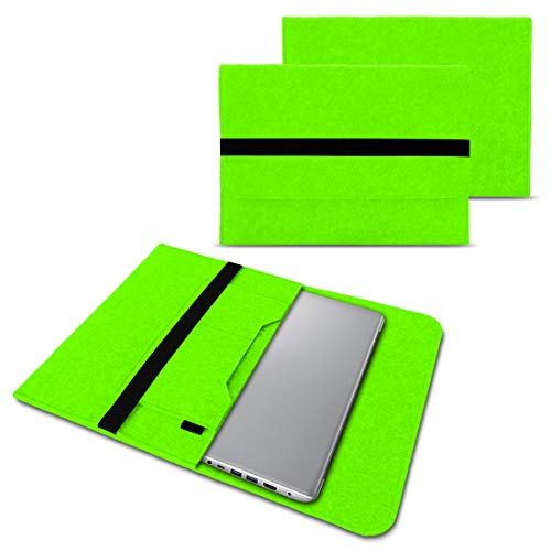 NAUC Notebook Tasche Hülle kompatibel für Lenovo Yoga C930 900 900 S 910 510 520 530 710 720 730 13,3-14 Zoll Filz Sleeve Schutzhülle Filz, Farben:Grün