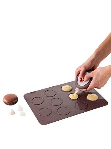 Kitchen Artist MEN247 Kit macarons silicone, Marron