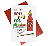 Cute Anniversary Card,Funny Pun Greeting Card - I Got The Hots Pho You