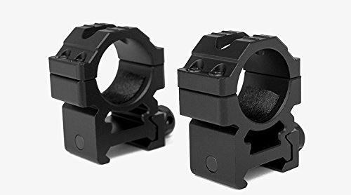M1SURPLUS Trinity Heavy Duty Medium Height Aluminum Matte Black Scope Rings Fits Weaver Picatinny Rails SR22 M&P Kel-Tec SU22 Mossberg 715t MVP Predator Hi-Point Carbine Remington 770 Rifles