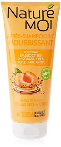 Naturé Moi – Après-shampooing nourrissant – À l'abricot du Roussillon et l'huile de sésame – Démêle et protège les cheveux secs et abîmés – 200ml