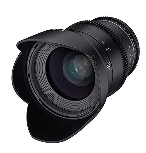 Samyang MF 35mm T1,5 VDSLR MK2 MFT – lichtstarkes T1,5 Weitwinkel Cine- und Video Objektiv für MFT Mount, 35 mm Festbrennweite, Follow Focus Zahnkränze Vollformat, APS-C und MFT, 8K Auflösung