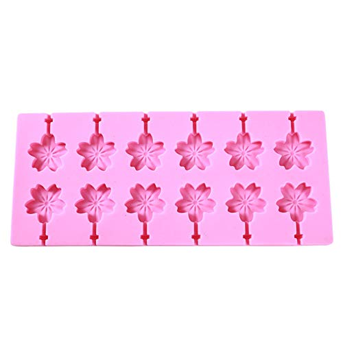 JIFeng 12 Grids Spiral Shaped Baking Mold Lollipop Chocolate Silicone...