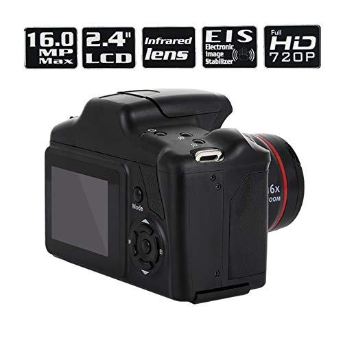SCZZ Camcorder Kamera, 2.4 '' HD 1080P Kamera SLR-CMOS-Trockenbatterie Digitalkamera, Tragbare Tele Digital-Festobjektiv 16X Zoom