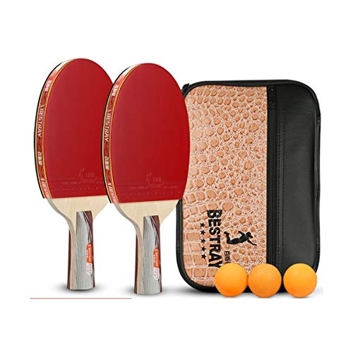 Buy YINJIESHANGMAO Table Tennis Racket, Four-Star Table Tennis Racket, Double Shot, Pen-Hold, Horizo...