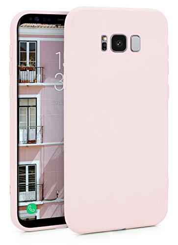 MyGadget Funda Slim en Silicona TPU para Samsung Galaxy S8 – Anti Polvo – Carcasa Mate Protectora Ultra Delgada 1mm Suave Cómoda y Ligera - Rosa Claro