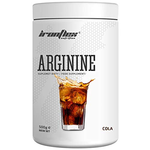 IronFlex Arginine - 1 Pack - Amino Acid - Muscle Pump and Strength - Endurance of Muscles - Anticatabolic (Cola, 500g)