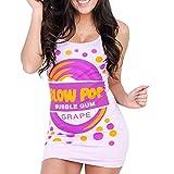 BLOW POP Bubble Gum Candy Grape Purple Tunic Tank Dress (Juniors Medium)