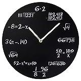 Bits and Pieces - Decorative Hanging Math Wall Clock - Mathematical Formulas Funny Clock