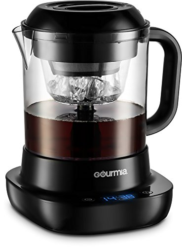 Gourmia GCM6800 Automatic Cold Brew Coffee Maker – 10 Minutes Fast Brew – Patented Ice Chill Cycle – One Touch Digital – 4 Strength Selector – 4 Cups – 5W – Black