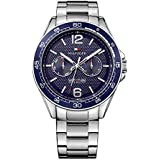 TOMMY HILFIGER Men's Sophisticated Sport Stainle