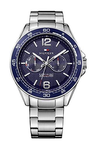 TOMMY HILFIGER Relógio Masculino Sofisticado Esportivo de Aço Inoxidável Quartzo com Pulseira de Aço Inoxidável, Tom 22 (Modelo: 1791366)