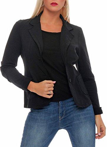 malito dames Blazer klassiek | Jasje in Basic Look | Kort jasje met knopen | Jasje - Jacket - Blouson 1651