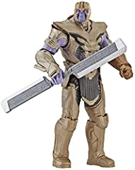 Prepare for Avengers: Endgame action - this 6-inch figure features design inspired by Thanos' appearance in Avengers: Endgame, with multiple points of articulation and a character-inspired accessory. Inspired by the Marvel Cinematic universe - this M...