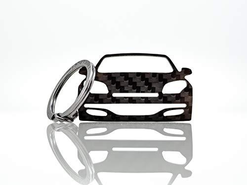 BlackStuff Porte-Clés En Fibre De Carbone Compatible Avec Megane 3 III Sport RS 2010-2014 Voiture