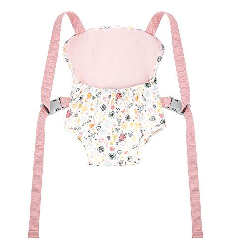 GAGAKU Puppentrage Baby Vorne und Hinten Tragen mit Verstellbare Träger für Kinder über 18 Monate, 100% Baumwolle