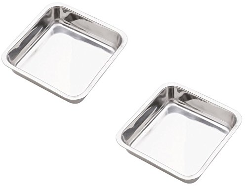 Norpro 7.5-Inch Stainless Steel Cake Pan, Square(2PK)