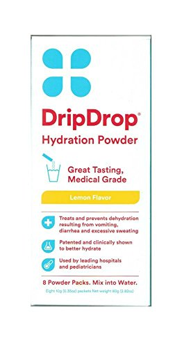 Drip Drop Hydration Powder Lemon Flavor 8 Packets Per Box (4 Boxes)