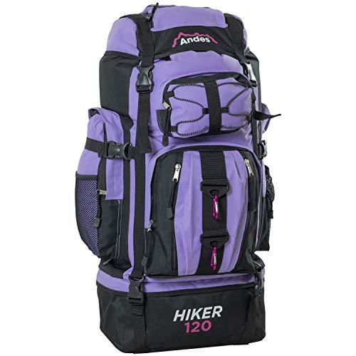 Adtrek Lilac 120L Hiker Backpack Extra Large Hiking/Camping Luggage Rucksack