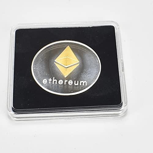 Moneda chapada en oro Bitcoin Bit Litecoin Ondulación Conmemoración Moneda Metal Transparente...