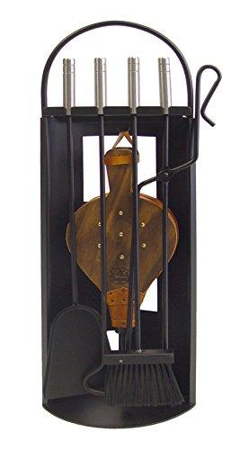 Imex El Zorro 10027 Juego para chimenea arco-chapa (inox y fuelle, 68 x 23 x 14 cm) útiles color negro