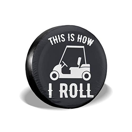 Lionel Philip Así es como enrollo la Cubierta Impermeable para Llantas de Repuesto de Golf para Jeep, remolques, caravanas, SUV, autocaravanas y Ruedas de vehículos.