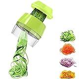 Cortador de Verduras, Espiral Rallador de Verduras Mano, Espiralizador de Verduras, para Zanahoria,...