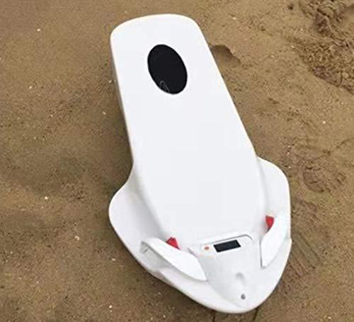 HYLH Sea Scooter Unter Wasser, Elektrische Booster ABS Surfen wasserdichte Gaspedal Propeller Tauchen Pool Roller Spielzeug Schwimmen Kinder Weiß*