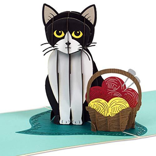 PaperCrush® Pop-Up Karte Katze [NEU!] - Lustige 3D Geburtstagskarte mit Katzenmotiv für Frauen und Kinder - Handgemachte Glückwunschkarte für Katzenliebhaber, Katzen Grußkarte inkl. Umschlag