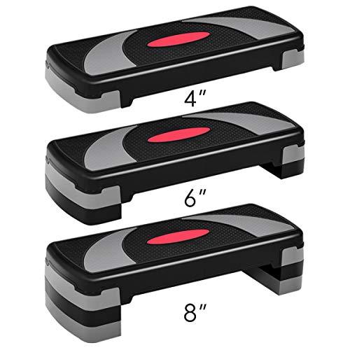 Giantex 31' Aerobic Step Platform, Non-Slip Surface, Height-Adjustable 4'-6'-8'...