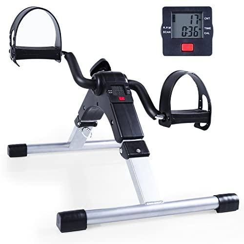 Mini Cyclette Pedaliera Fitness Pieghevole per Braccia e Gambe con LCD Display Pedaliera da Casa Regolabile Digitale Mani e Piedi
