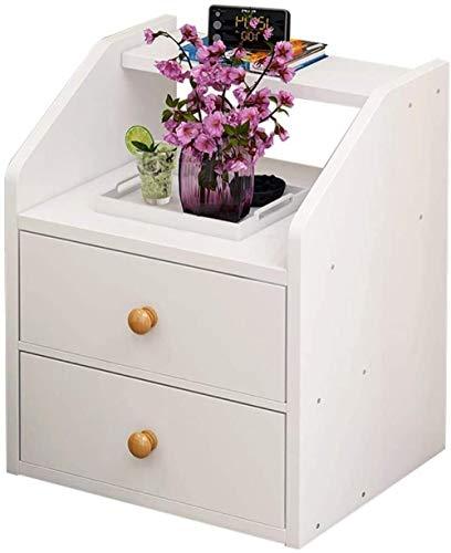 File cabinets Nachttisch Nachttisch Schlafzimmer Haushalt Montage Wohnzimmer Badezimmer Doppelpumpe Bodenstehend Korridor Arbeitszimmer Spindtisch Beistelltisch (Farbe: Weiß)