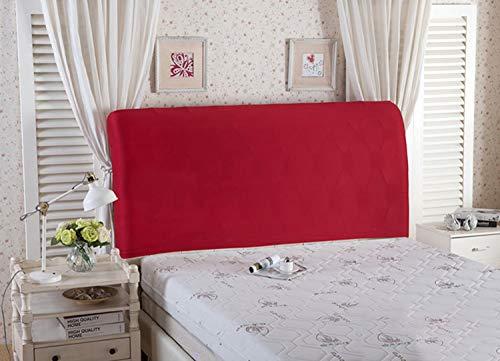 Copertura per testiera per letto, protezione elastica a tinta unita, decorazione per camera da letto, copertura antipolvere, Wine Red, King (70.5-78')