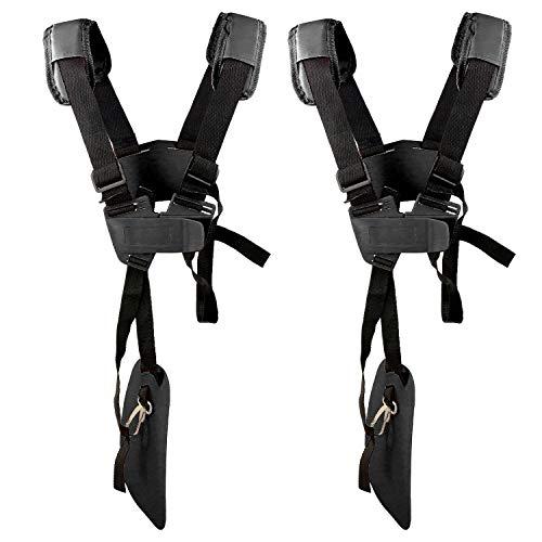 2 Pacchi Cintura Decespugliatore Universale - Tracolla Decespugliatore Professionale Trimmer Harness Strap per STIHL, Echo, Husqvarna, Shindaiwa, Honda Decespugliatore Brush Cutter.Eccetera(Nero)