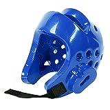 LIOOBO Casco de Taekwondo para niños/Boxeo/Karate/Artes Marciales - Casco de Combate con Amortiguador eva - Talla XS (Azul)