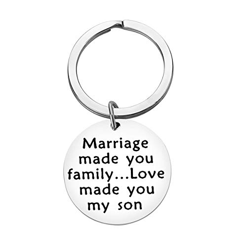 Son in Law Keychain Gifts Marriage Made You Family Love Made You My Son Keychain Son in Law Birthday Gifts Christmas Gift Wedding Gifts for Son in Law Groom to Be