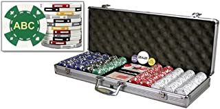DA VINCI Custom Poker chip Set Monogrammed with 3 Initials Printed on The Chips with 500 11.5 Gram Chips case and Cards