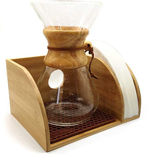 Soporte organizador de café Hexnub para cafeteras de café filtradas Chemex, Bodum y Coffee Gator (soporte de café)