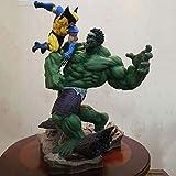 LLly Figura De Anime Wolverine Hulk Modelo De Gran Tamaño Estatuas De Personajes, Wolverine Vs.Hulk PVC Figuras De Anime De Juguete, Puede Contener 36 Cm