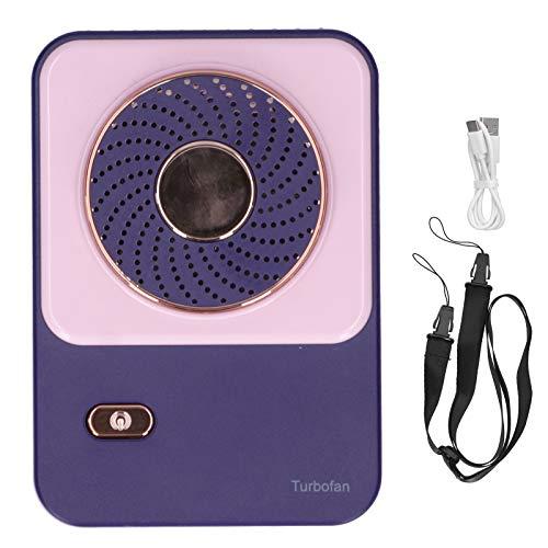 Rosvola Circulador de Aire Personal de 3 velocidades con cordón para Colgar en el Cuello, Mini Ventilador de batería Recargable de 1200 mAh Tipo C, Dispositivo de enfriamiento al Aire(Pink)