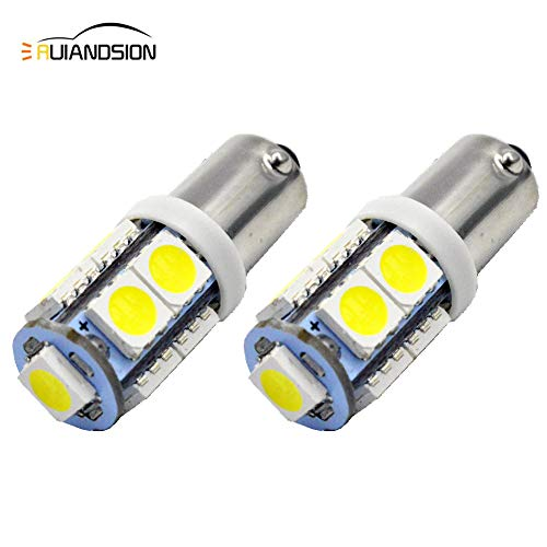 Ruiandsion 2pcs BAY9S H21W Bombilla LED 12V Super Brillante 5050 9SMD Chipset Bombilla de luces de marcha atrás de respaldo LED, blanco