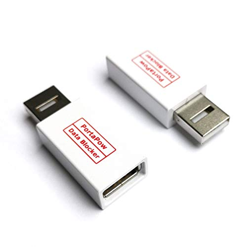 PortaPow Snel opladen met Data Block USB Adapter en SmartCharge Chip - Wit (Pack van 2)