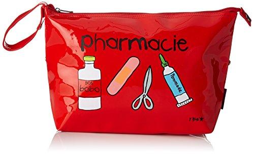 Incidence 60339–Estuche para medicamentos de Farmacia Rojo Vinilo Cierre de Cremallera y asa de Transporte