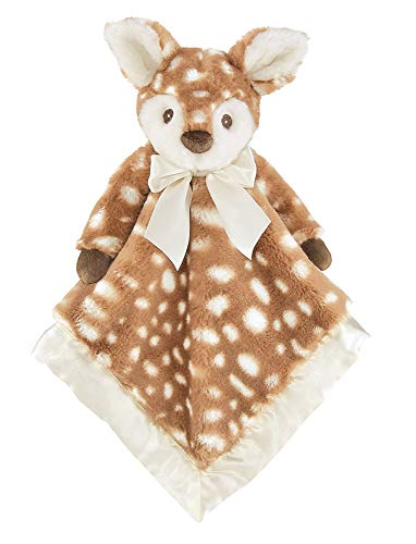 Bearington Lil#039 Willow Fawn Plush Security Blanket Lovey Brown
