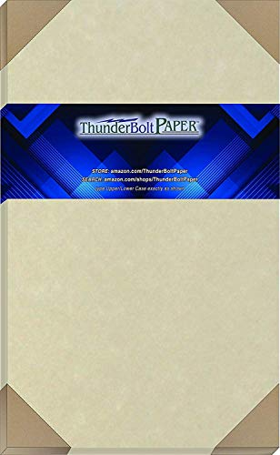 50 Natural Parchment 60# Text (=24# Bond) Paper Sheets - 8.5 X 14 inches Legal Size - 60 Pound is Not Card Weight - Vintage Colored Old Parchment Semblance