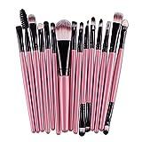 YSJJMES Brochas de Maquillaje 6 / 15PCS Cosméticos Maquillaje Cepillo Fundación Mujeres Eyeshadow Eyeliner Lab Lip Make Up Oche Cepillos Set (Handle Color : 15Pink)