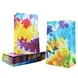 Tie Dye Party Favor Bags, 24 Pieces Camouflage Treat Bags Goody Bags Retro Gift Bags Colorful Kids...