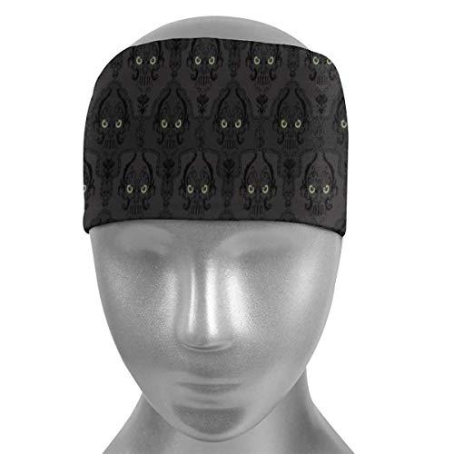 HFHY Augenschädelform Weiche Sportstirnbänder, feuchtigkeitsregulierendes, schnell trocknendes, atmungsaktives Schweißband, rutschfestes, elastisches, feuchtigkeitselastisches Stirnband für Männer, Fr