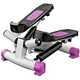 HYDT Exercise Bike Portable Exercise Pedal Bike for Legs and Arms,Mini Exercise Scooter with LCD Display (Color : Pink)